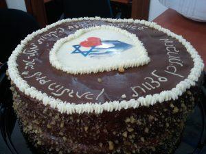 המתנדבות הופתעו עם עוגת יומולדת
