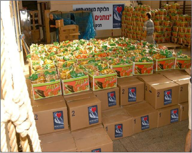 חלוקת סלי מזון בקריית מלאכי